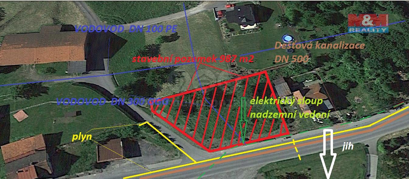 Prodej, stavební pozemek, 987 m2, Staříč