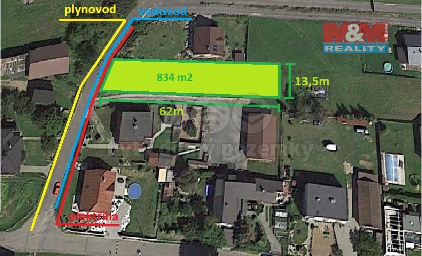 Prodej, stavební pozemek, 834 m2, Darkovičky