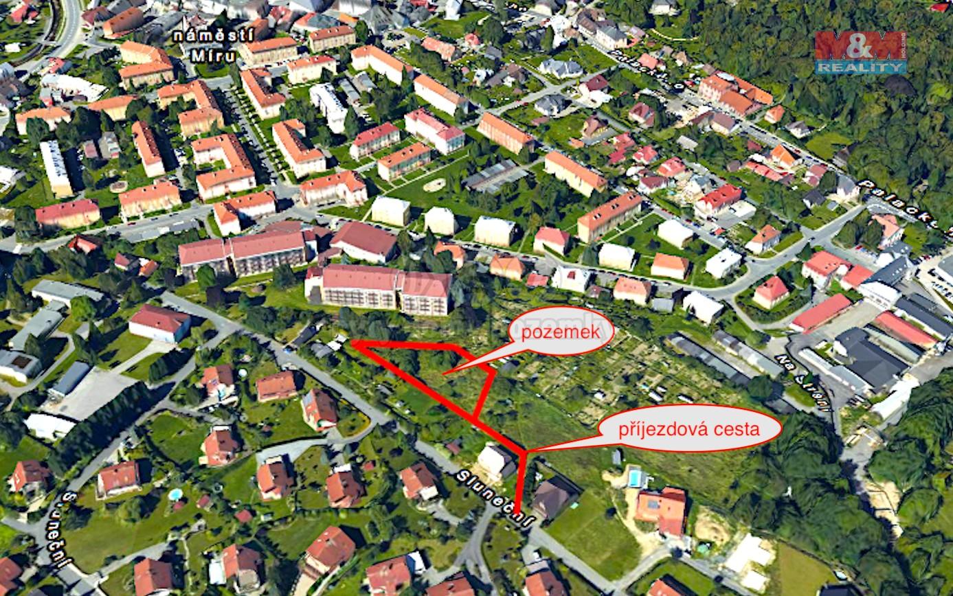 Prodej, pozemek, 980 m2, Rožnov pod Radhoštěm, ul. Sluneční