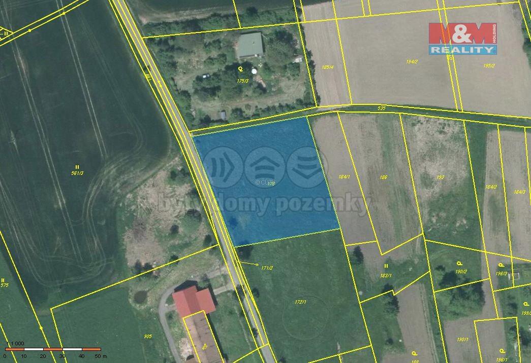 Prodej, zahrada, 3572 m2, Liběšice - Dolní Chobolice