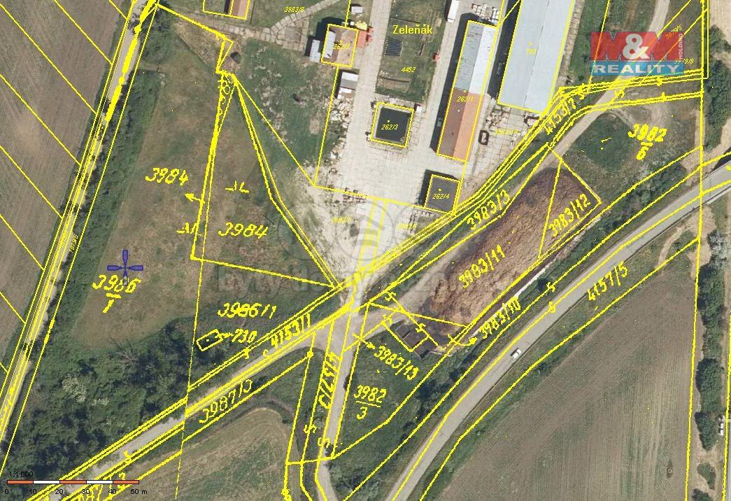 Prodej, pozemek, 10161 m2, Velké Němčice