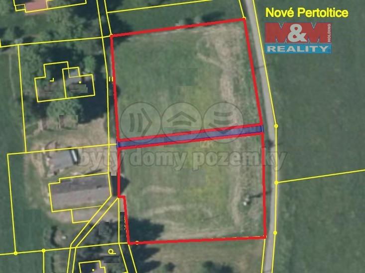 Prodej, stavební pozemek, 3963 m2, Pertoltice