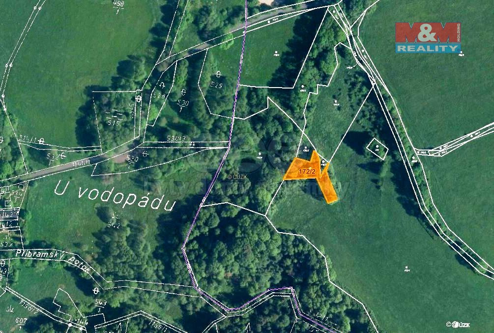 Prodej, les, 1042 m2, Žandov-Velká Javorská