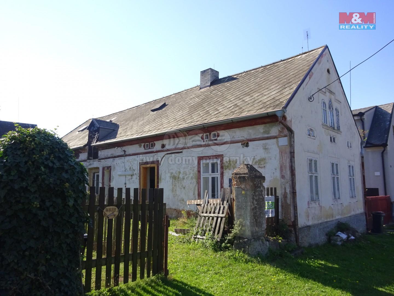 Prodej, rodinný dům, 3+1, 819 m2, Hluboká - Žihle