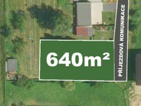 Prodej, stavební pozemek, 640 m2, Stará Bělá