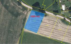 Prodej, zahrada 1000 m2, Matějovec