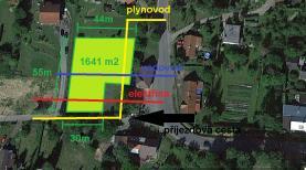 Prodej, stavební pozemek, 1641 m2, Sedlnice