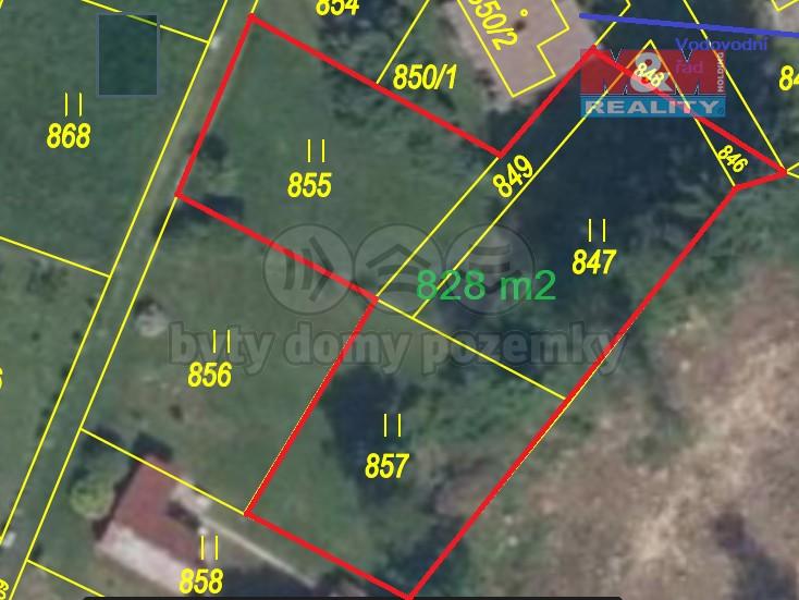 Prodej pozemku k bydlení, 828 m², Zruč nad Sázavou