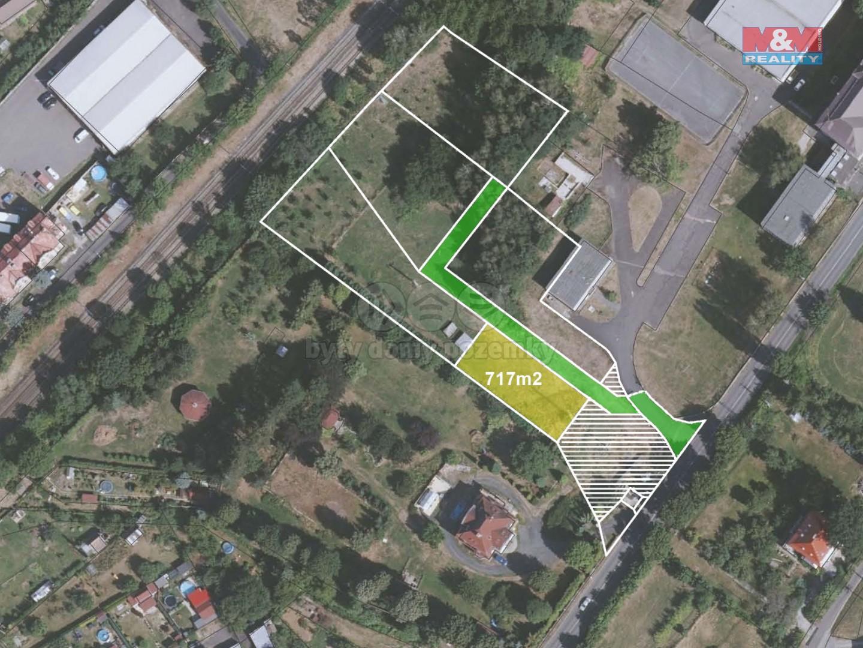 Prodej zahrady, 717 m², Děčín, ul. Vítězství
