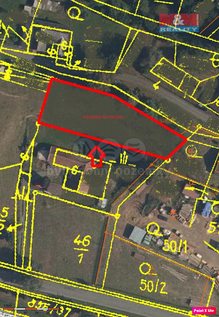 Prodej pozemku k bydlení, 1200 m², Opatovec