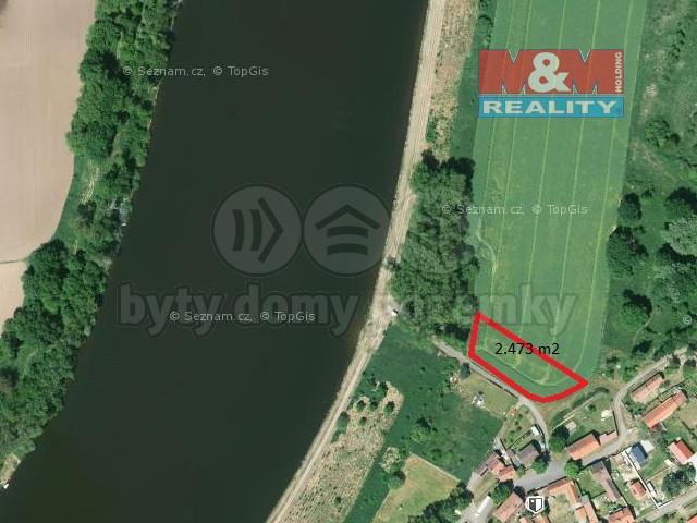 Mapy cz (Prodej, pole 2.473 m2, Záluží u Roudnicen/L), foto 1/7