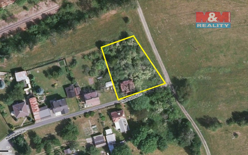 Prodej pozemku k bydlení, 1157 m², Hranice, ul. Nad nádražím