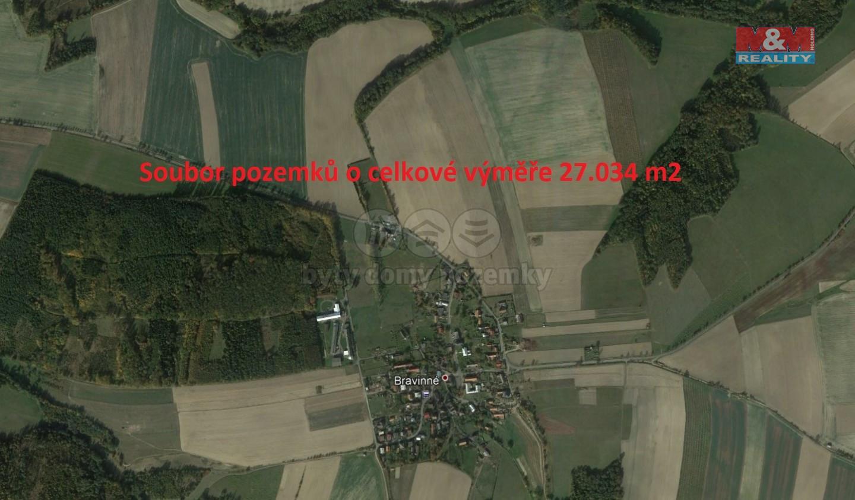 Prodej, pole, 27034 m2, Bravinné