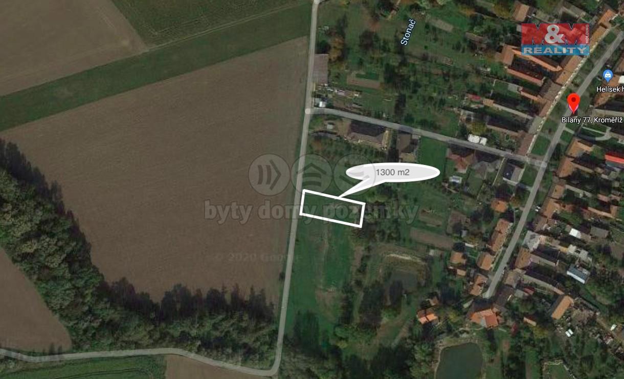 Prodej pozemku k bydlení, 1085 m², Kroměříž
