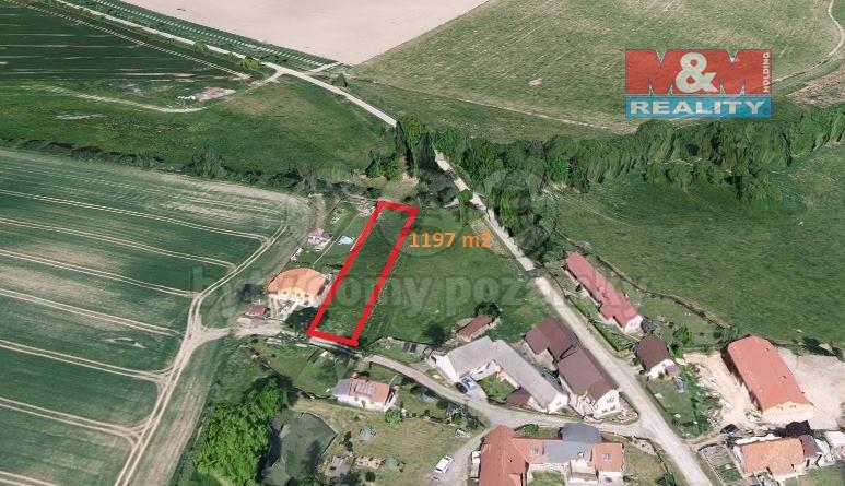Prodej, stavební pozemek, 1197m2, Teplýšovice - Humenec
