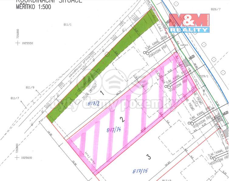 Prodej pozemku k bydlení, 1129 m², Nedomice