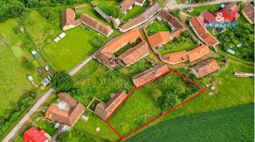Prodej pozemku k bydlení, 1280 m2, Kadešice u Sušice