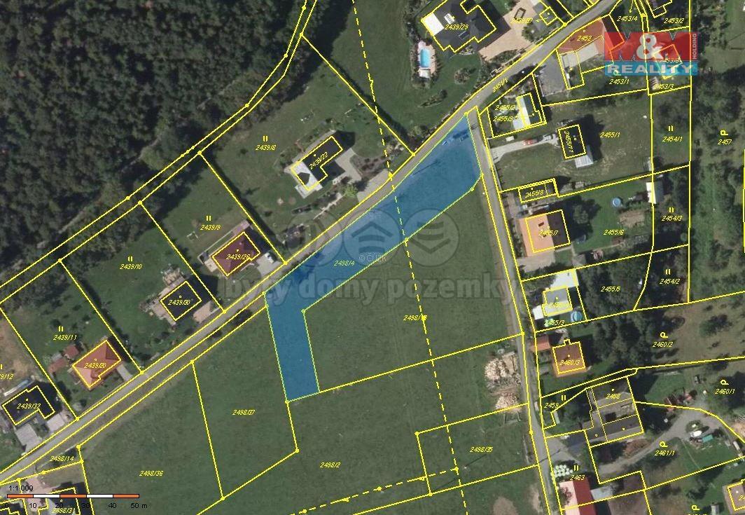Prodej pozemku, 2113 m², Odry