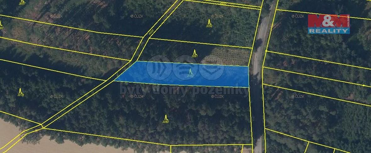 Prodej lesa, 23737 m², Pohledy