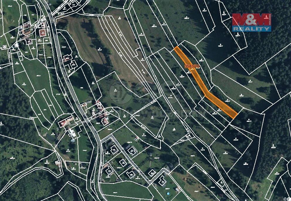 Prodej louky, 2509 m², Halenkov