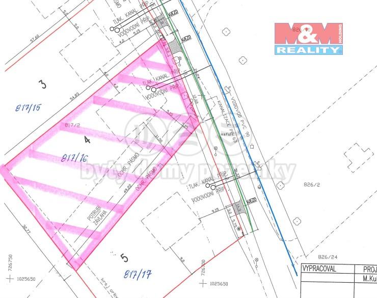 Prodej pozemku k bydlení, 1430 m², Nedomice