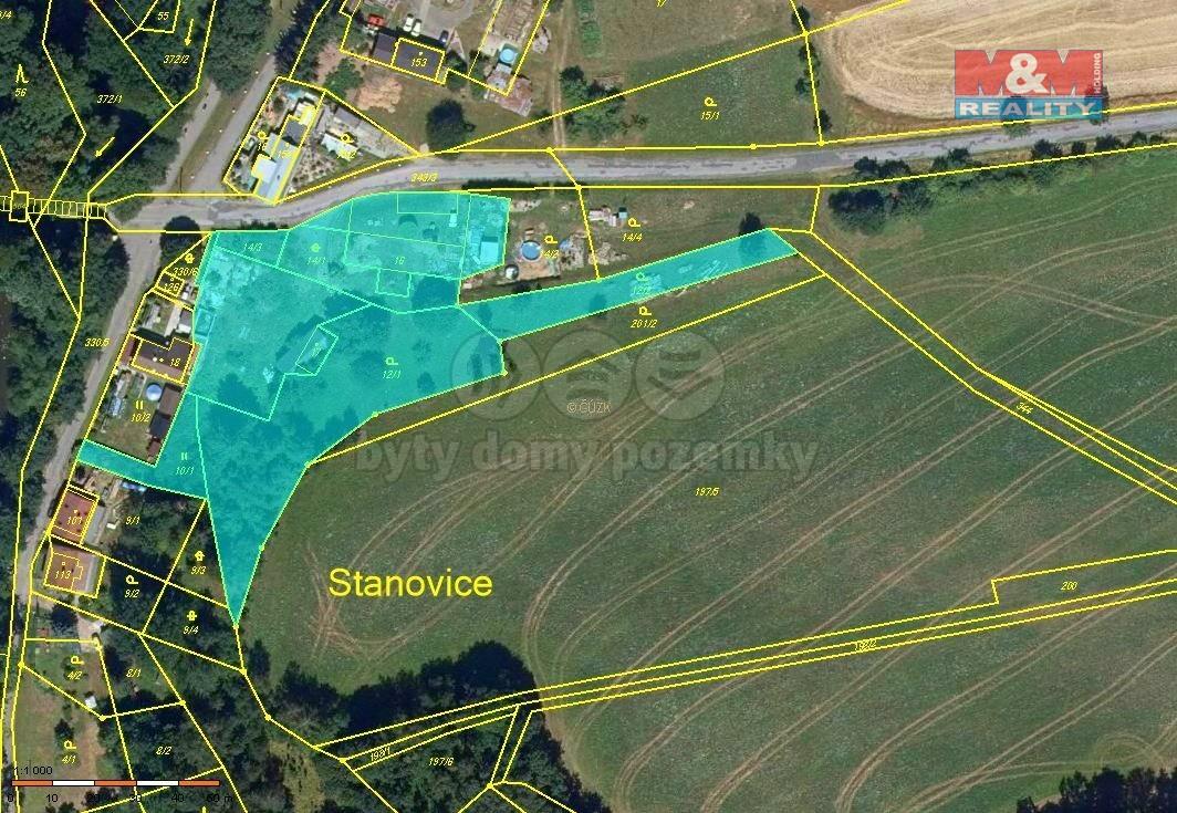 Prodej pozemku k bydlení, 5055 m², Stanovice
