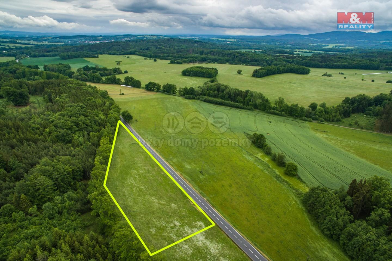 Prodej pozemku, 8721 m², Obora u Hracholusk