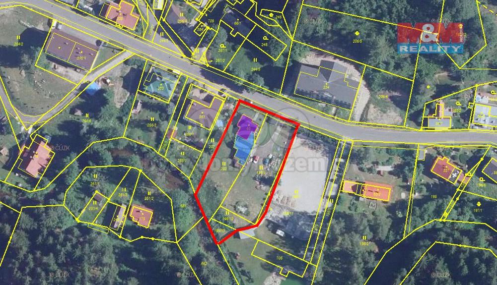 Prodej stavebního pozemku 2402 m2, Josefův Důl