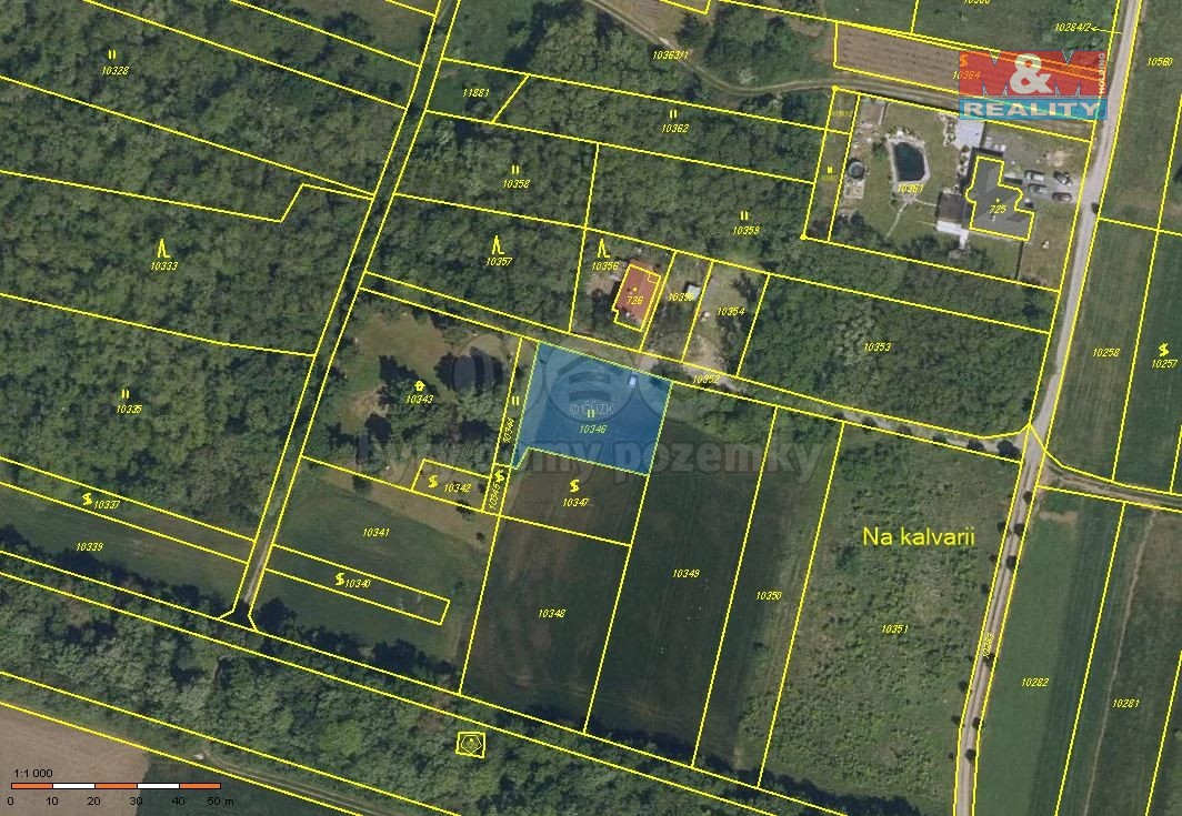 Prodej pozemku, 808 m², Hrabětice