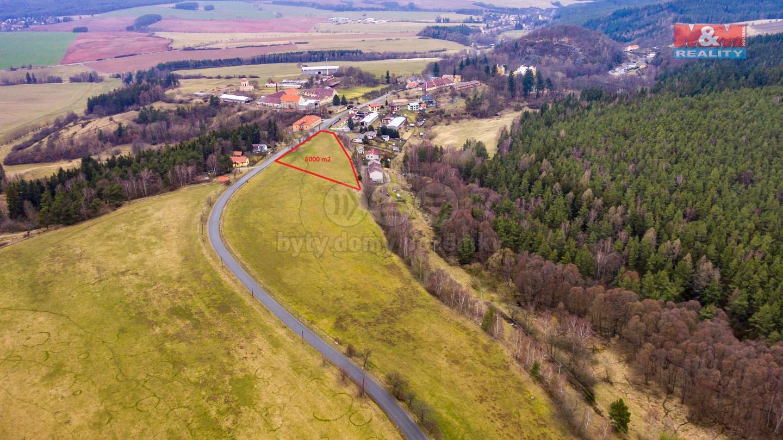 Prodej, stavební pozemek, 6000 m2, Hrad Nečtiny, Plzeň-sever
