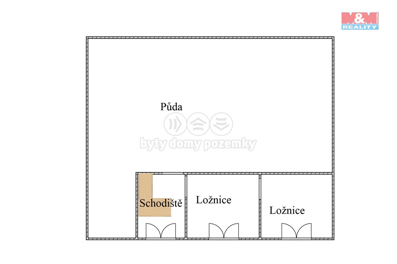 Podkroví s ložnicemi 2D