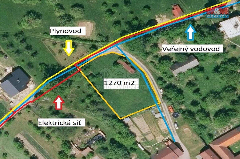 Prodej, pozemek k bydlení, 1270 m², Osíčko