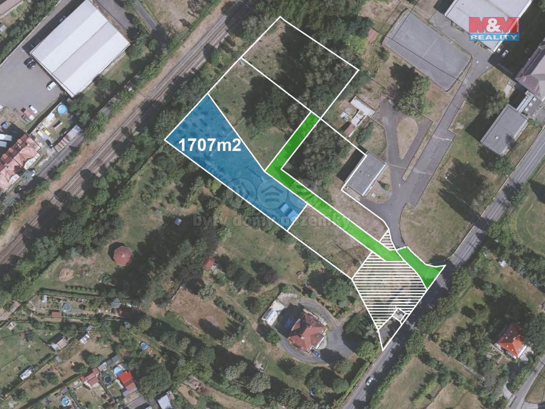 Prodej pozemku k bydlení, 1707 m², Děčín, ul. Vítězství