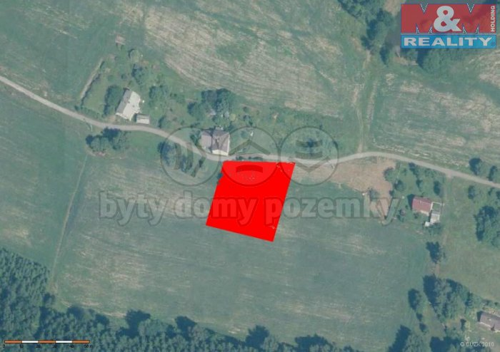 letecký snímek (Prodej, stavební pozemek, 1087 m2, Šluknov, Lipová), foto 1/4