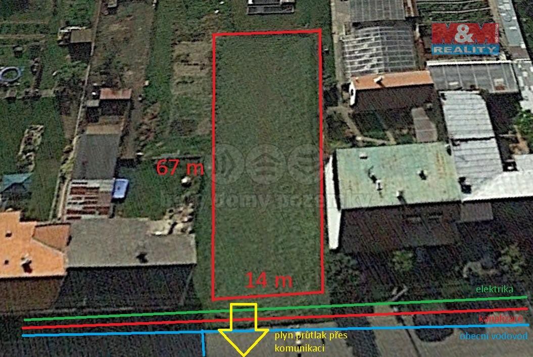 Prodej, stavební pozemek, 925 m2, Trávník