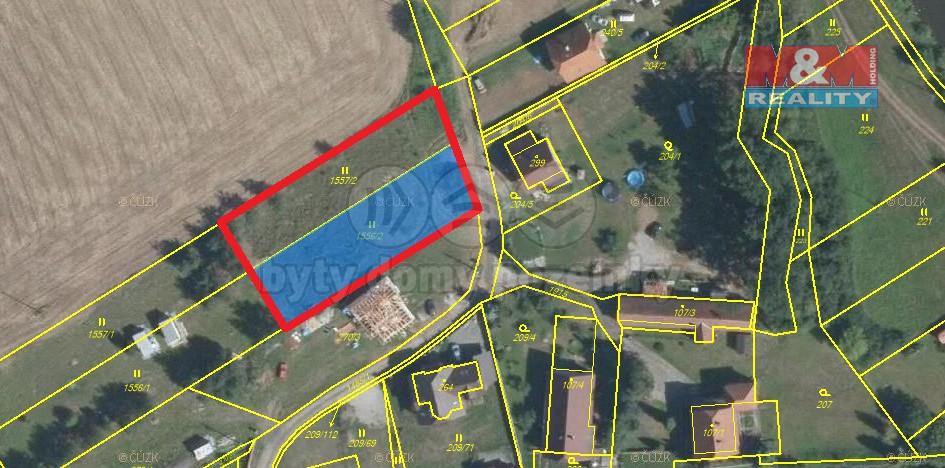 Tvar pozemku (Prodej, stavební pozemek, 2060 m2, Libomyšl), foto 1/16