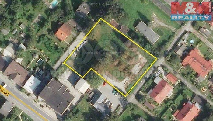 mapka s určením (Prodej, pozemek, 2828 m2, Orlová - Poruba), foto 1/1