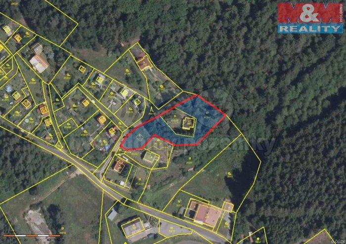 mapa (Prodej, stavební parcela, 2170 m2, Smolné Pece), foto 1/18
