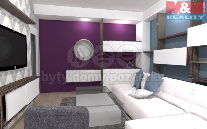 503469_Obývací pokoj -  vizualizace (Prodej, byt 2+1, 52 m2, Studénka - Nová Horka), foto 1/8