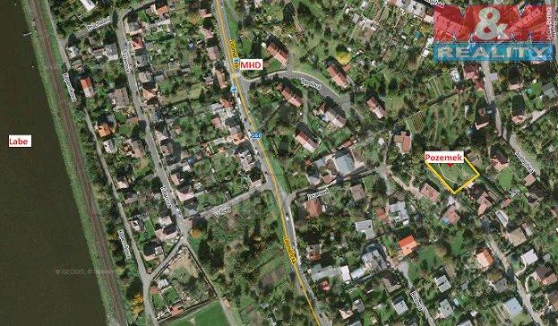 Mapa (Prodej, pozemek 1210 m2, Ústí nad Labem - Střekov), foto 1/6