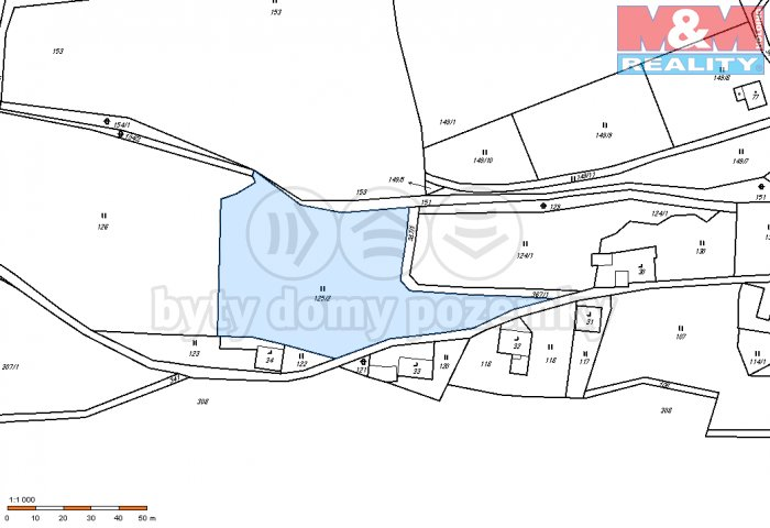 mapa (Prodej, pozemek, 4100 m2, Perštejn - Vykmanov), foto 1/3