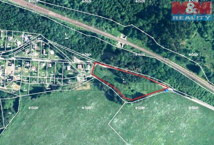 Mapa K (Prodej, stavební pozemek, 3697 m2, Mariánské Lázně - Valy), foto 1/10