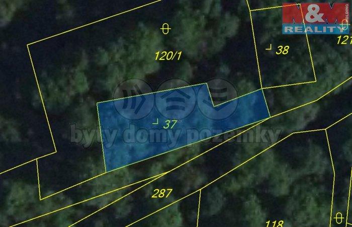 Prodej, stavební parcela, 333 m2, Hrádek u Loun