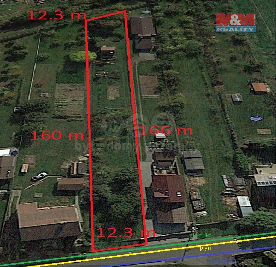 Prodej, stavební pozemek, 2017 m2, Količín u Holešova