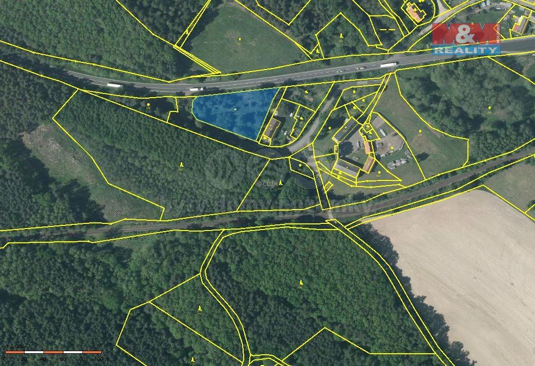 Prodej, pozemek, 3395 m2, Holany - Hostíkovice