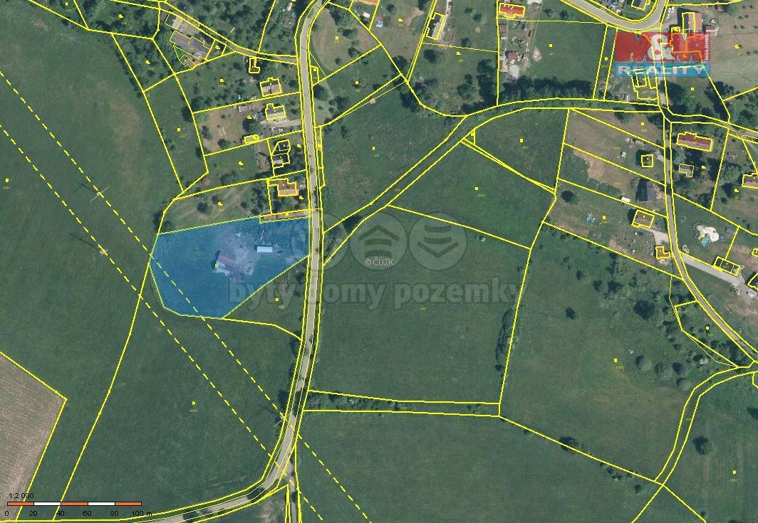 Prodej, stavební pozemek, 6313 m2, Volfartice