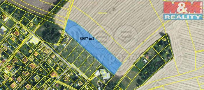 Prodej, pole, 8 057 m2, Březí u Říčan (Prodej, pole, 8057 m2, Březí u Říčan), foto 1/3