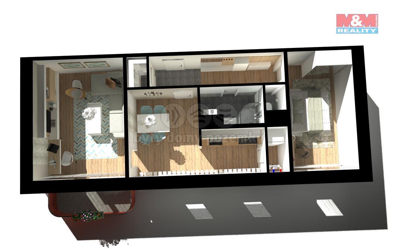 Prodej, byt 3+kk, 67 m2, Jizbice u Náchoda