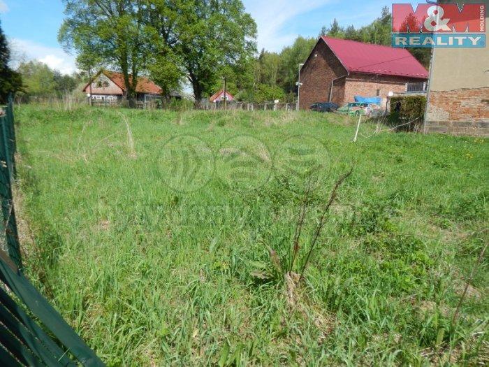 pohled na pozemek  (Prodej, stavební pozemek 954 m2, Česká Lípa - Sosnová), foto 1/7