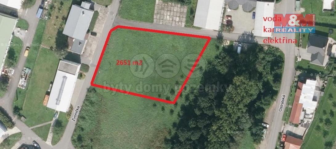 Prodej, stavební pozemek, 2651 m2, Zlín - Velíková